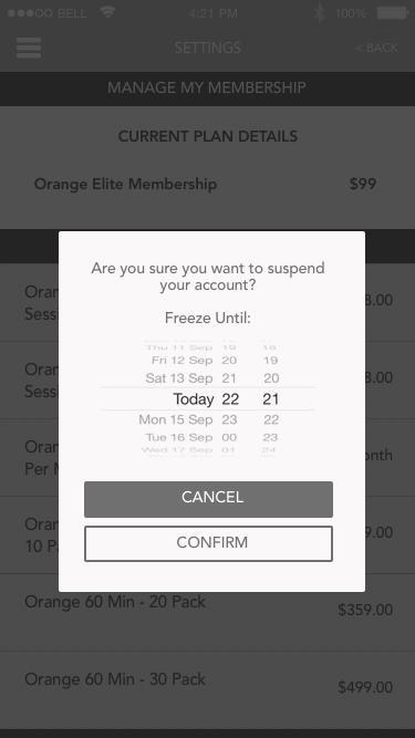 Suspend Membership